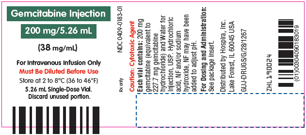 Principal Display Panel - 200 mg/5.26 mL Vial Label